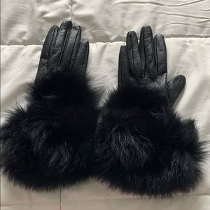 Accessories - genuine leather and fur gloves